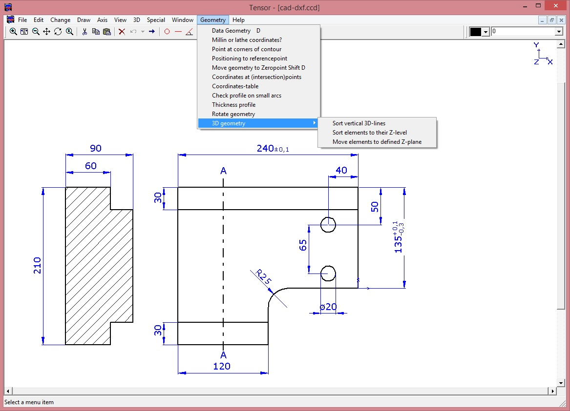 2d cad tool autocadlite acadlite mechanical engineering sketches